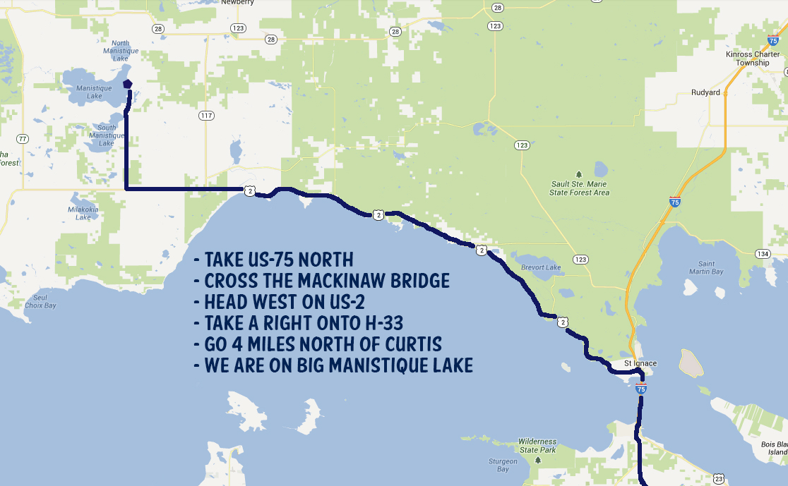 Big Lake Campground Location